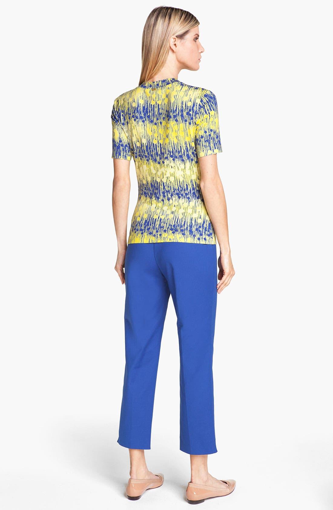 Alternate Image 3  - St. John Yellow Label 'Audrey' Double Weave Stretch Cotton Capri Pants