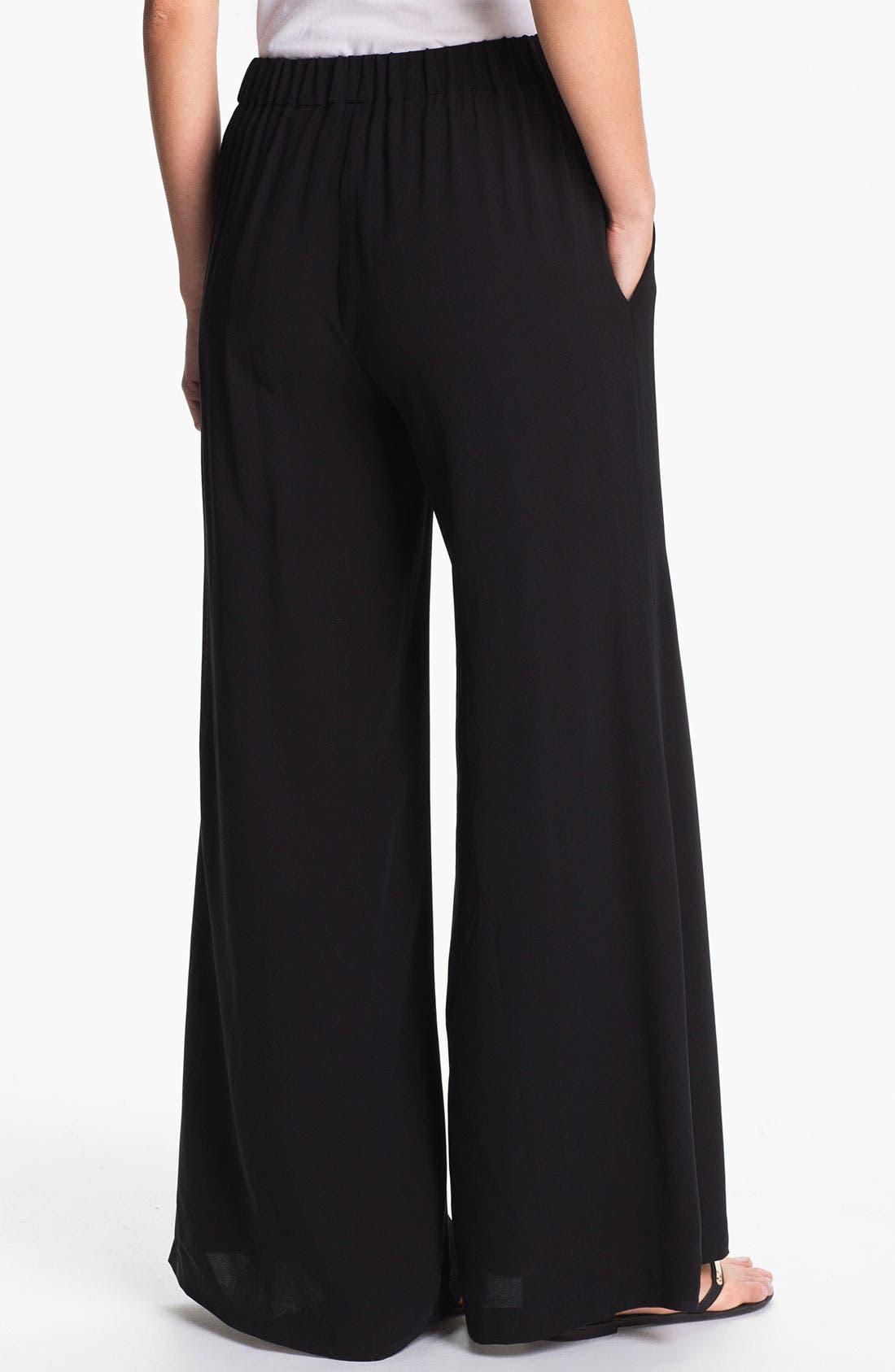 Alternate Image 2  - Eileen Fisher Wide Leg Silk Pants (Online Only)
