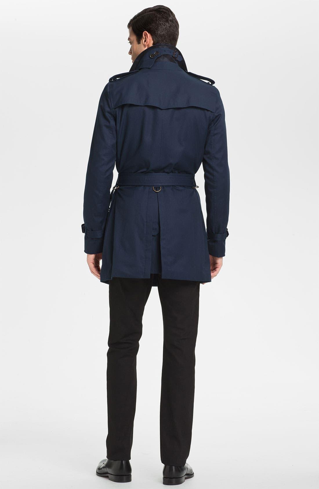 Alternate Image 6  - Burberry London Steadman Fit Straight Leg Jeans (Black Wash)