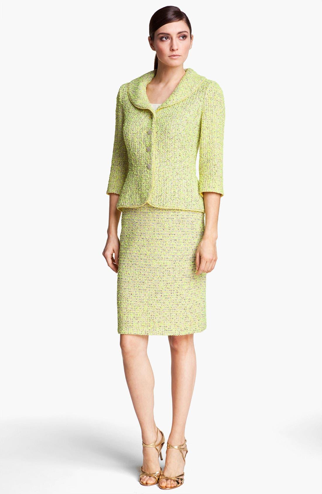 Alternate Image 2  - St. John Collection 'Park Lane' Tweed Skirt