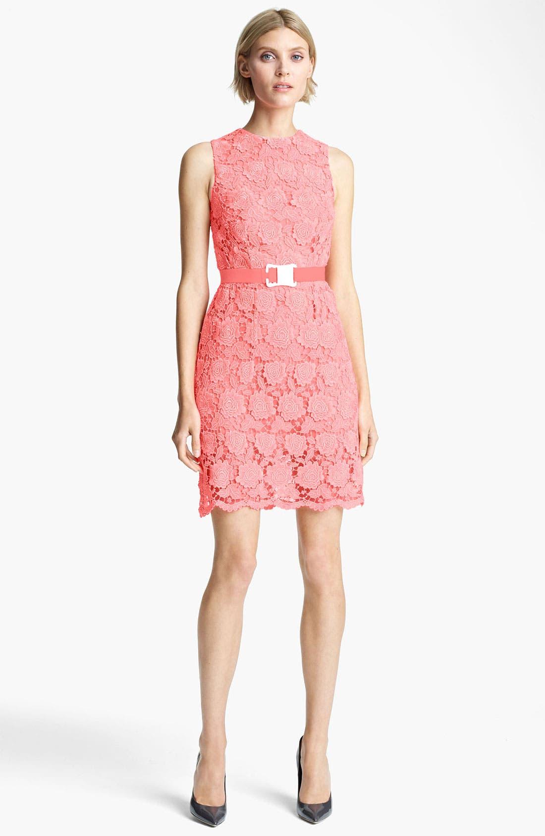 Alternate Image 1 Selected - Christopher Kane Safety Belt Lace Minidress