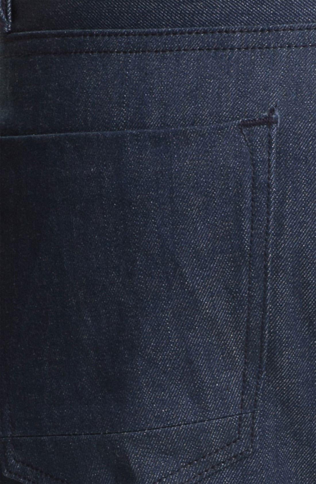 Alternate Image 3  - Denim & Leathers by Andrew Marc 'Ocean' Slim Straight Leg Raw Selvedge Jeans (Indigo)