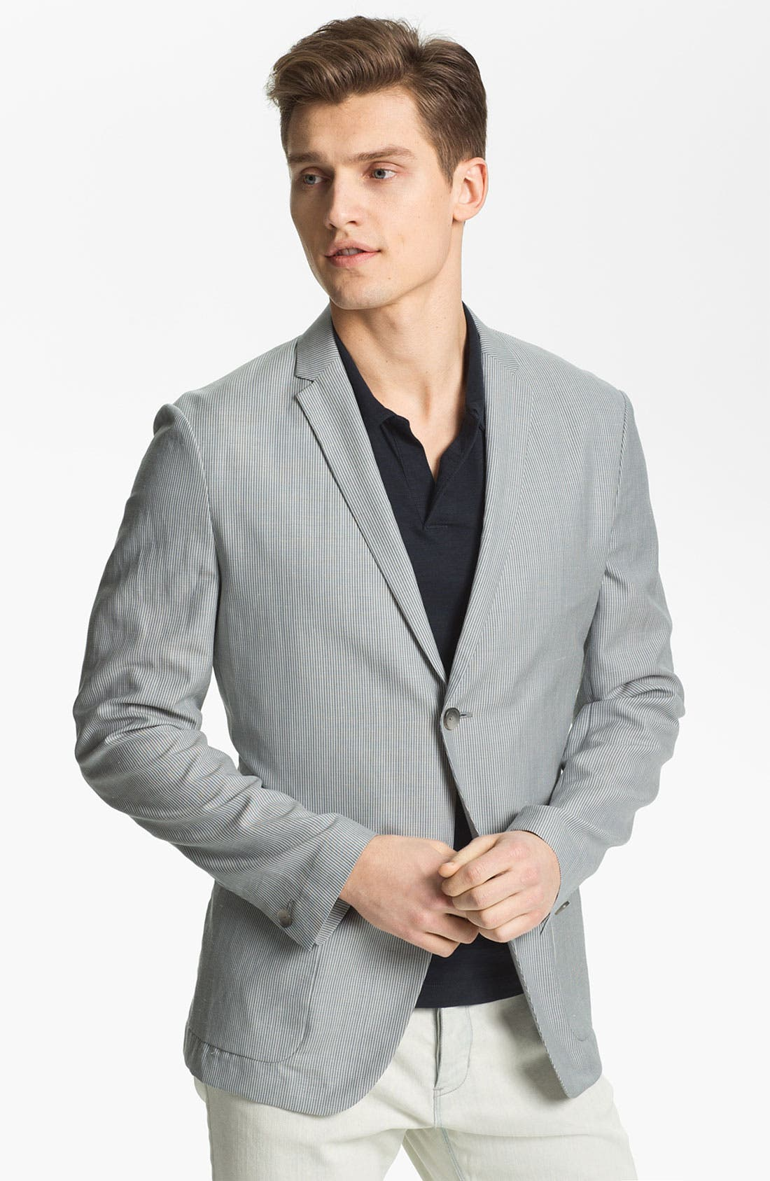 Main Image - Theory 'Jaiden Follett' Wool & Linen Blazer