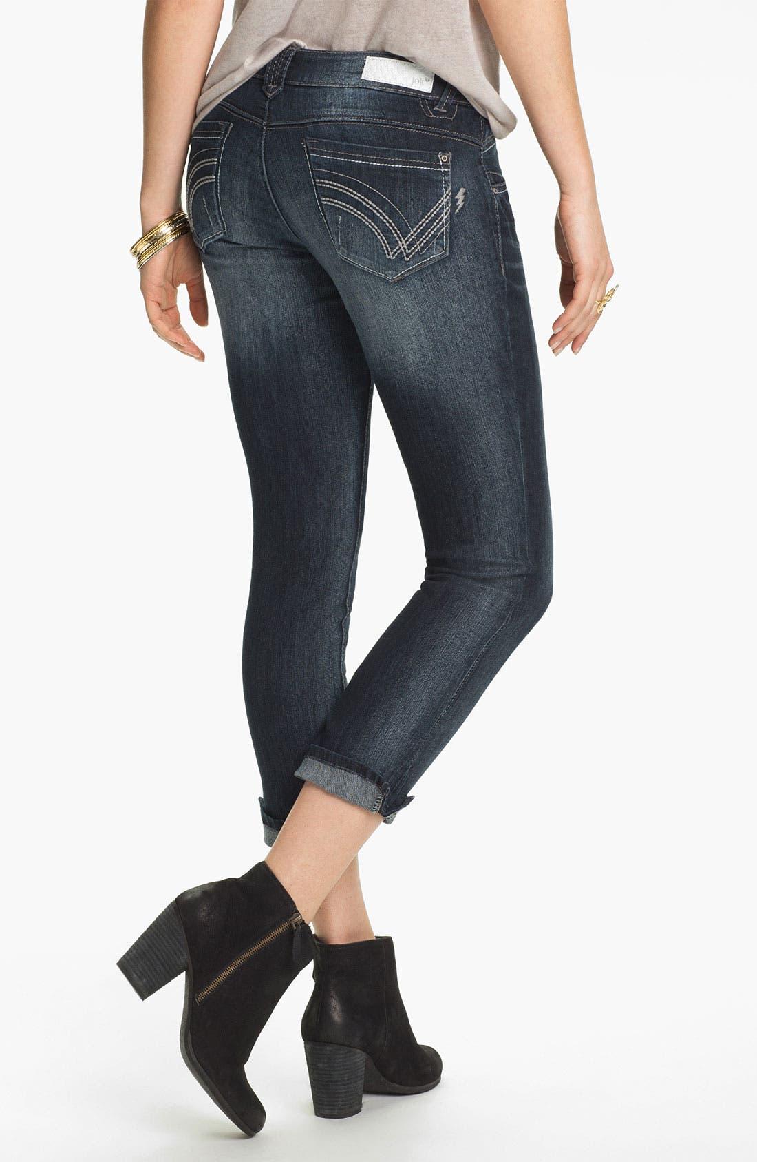 Alternate Image 1 Selected - Jolt Skinny Crop Jeans (Juniors)