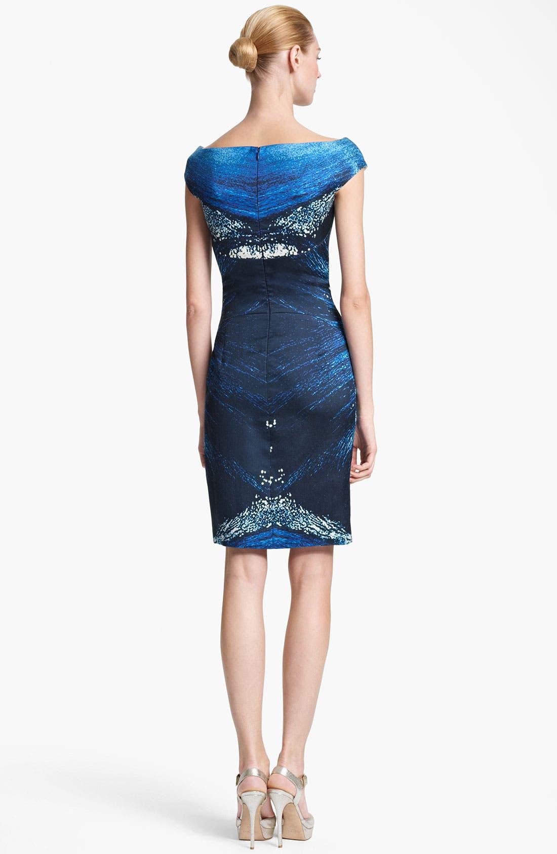 Alternate Image 2  - Naeem Khan Print Organza Cocktail Dress