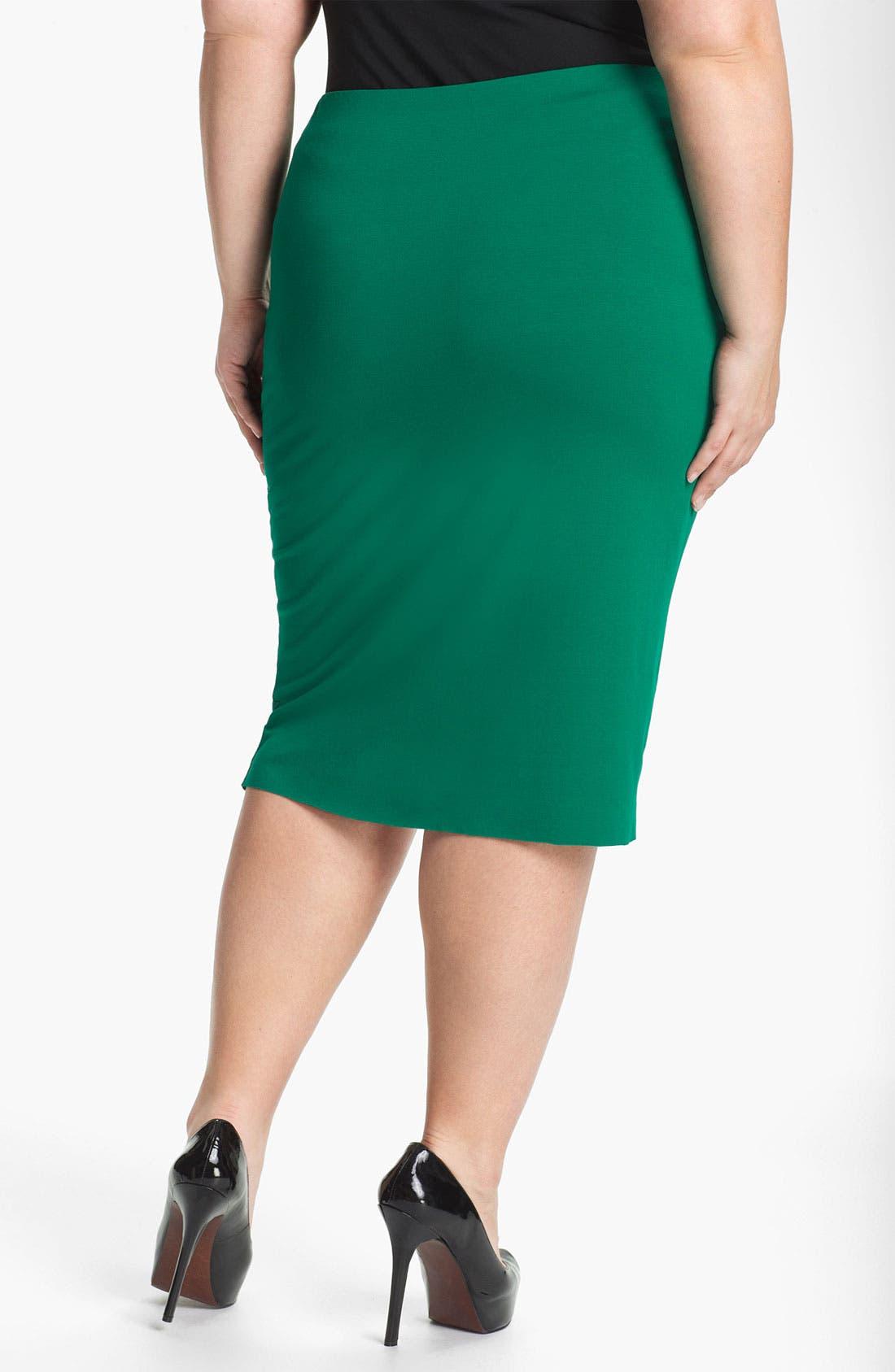 Alternate Image 2  - Vince Camuto Midi Tube Skirt (Plus)