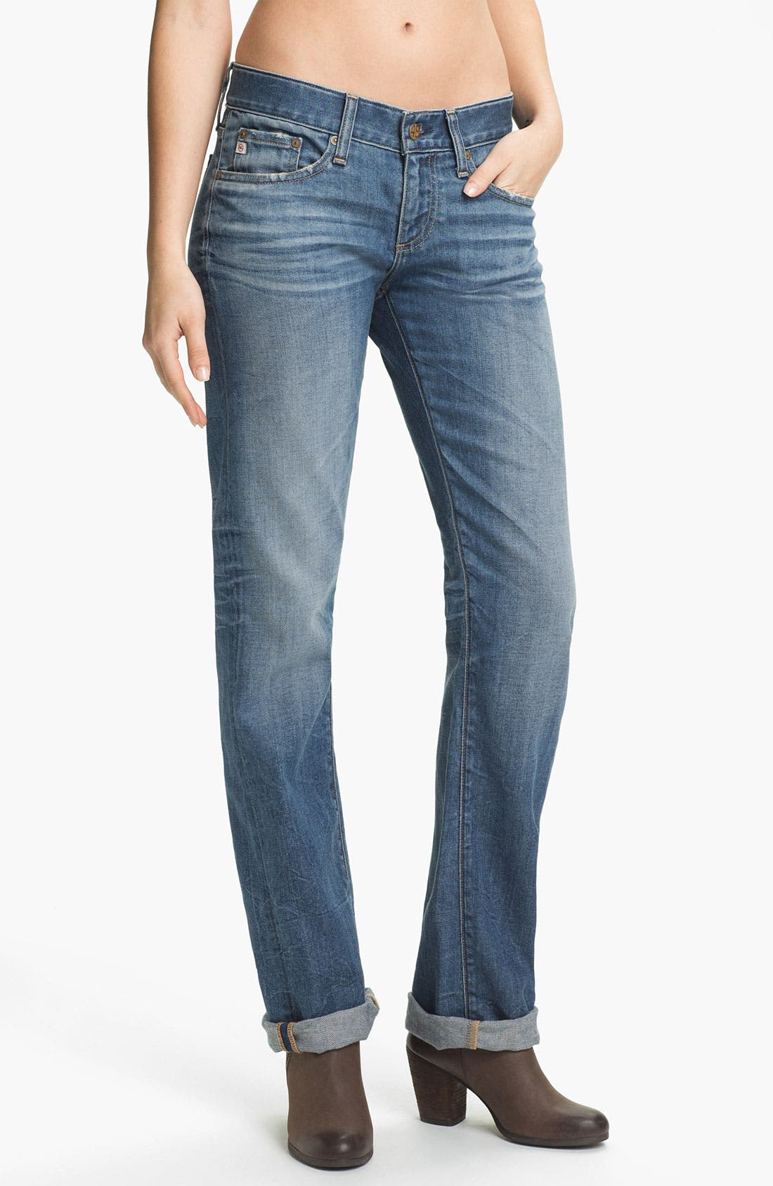Alternate Image 2  - AG Jeans 'Tomboy' Relaxed Straight Leg Jeans (19-Year Mesa)