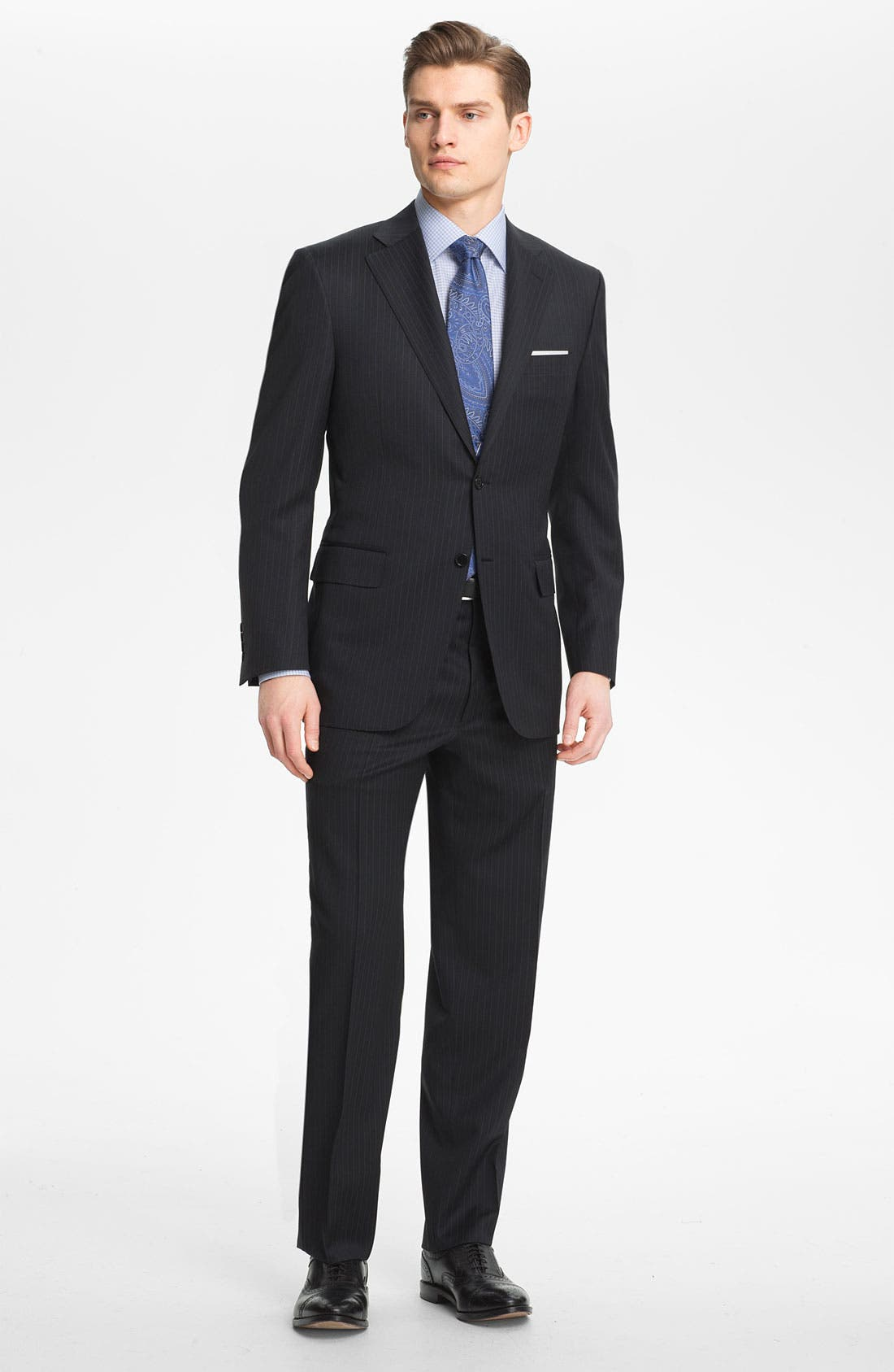 Main Image - Canali Stripe Wool Suit