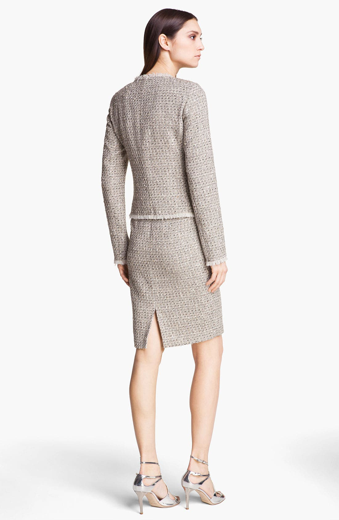 Alternate Image 3  - St. John Collection Speckled Tweed Pencil Skirt