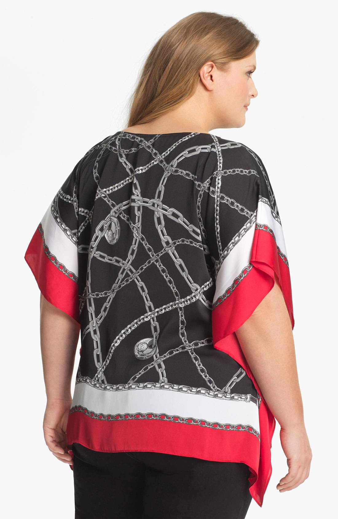 Alternate Image 2  - MICHAEL Michael Kors Chain Print Flutter Tunic (Plus)