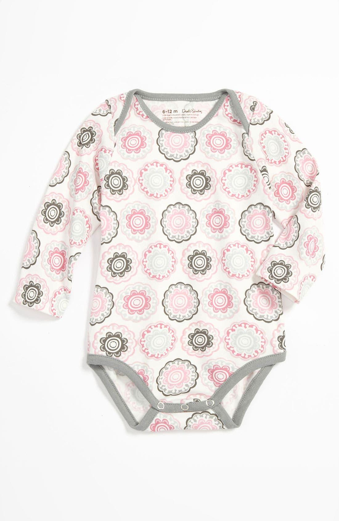 Alternate Image 1 Selected - DwellStudio Long Sleeve Bodysuit (Infant)