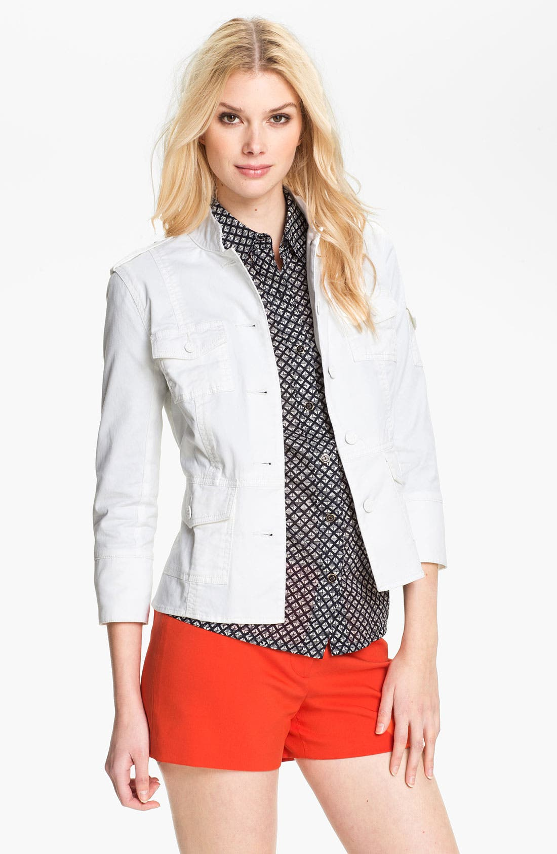 Main Image - Tory Burch Three Quarter Sleeve Jacket