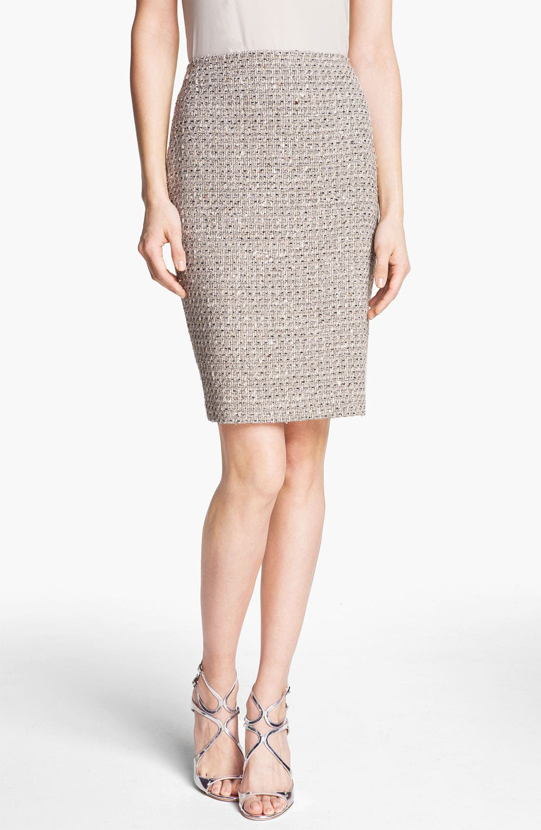Main Image - St. John Collection Speckled Tweed Pencil Skirt