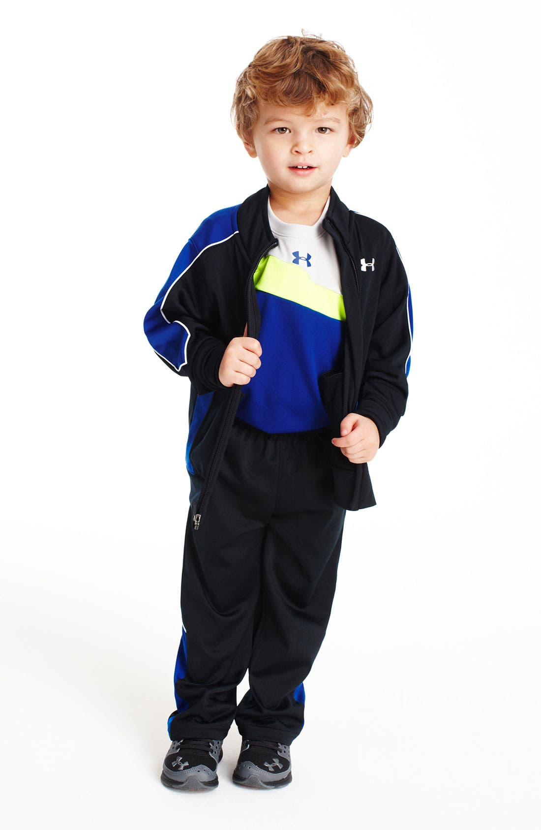 Alternate Image 1 Selected - Under Armour T-Shirt, Jacket, Pants & Sneaker (Toddler)