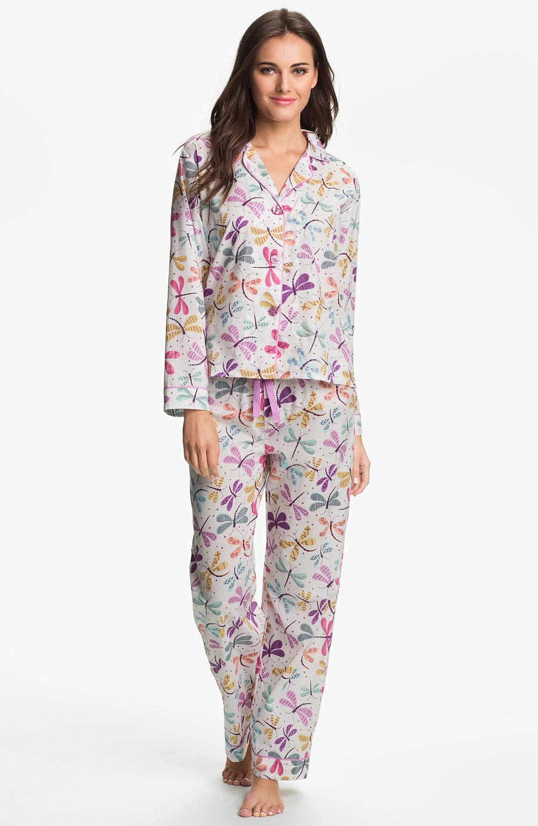 Alternate Image 1 Selected - PJ Salvage 'Playful Prints' Woven Pajamas
