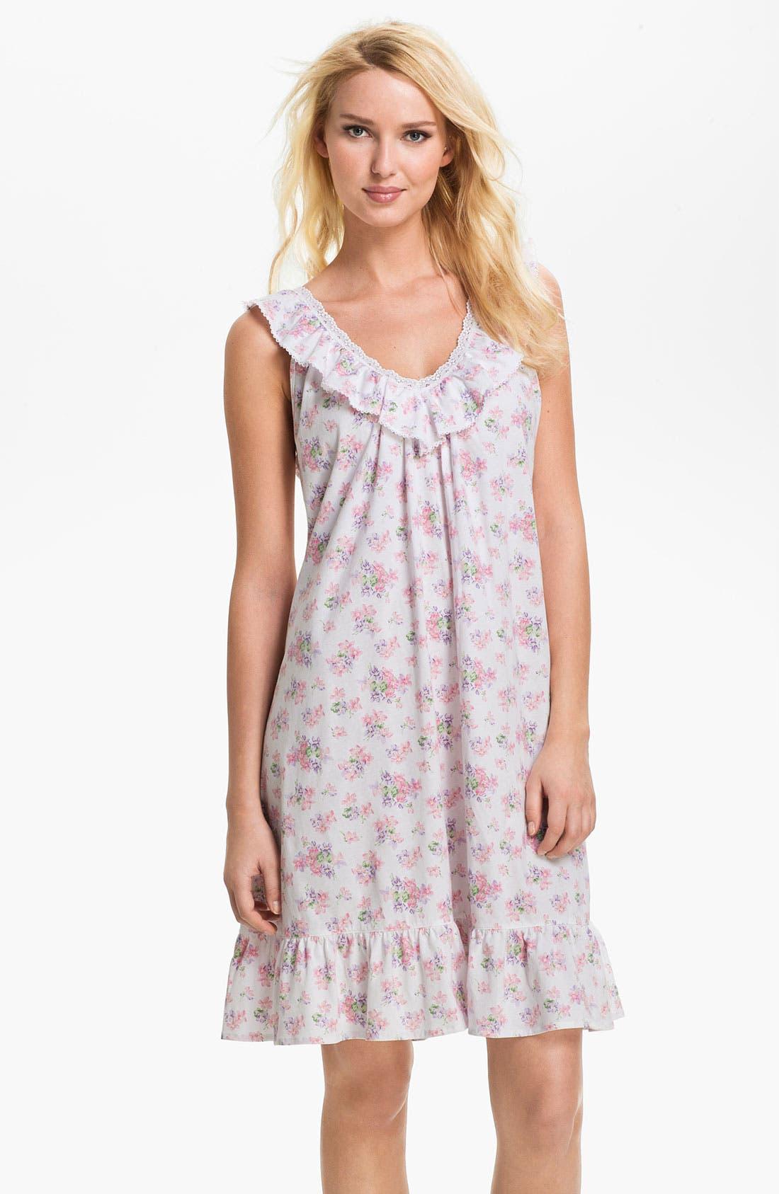Alternate Image 1 Selected - Lauren Ralph Lauren Ruffled Short Nightgown