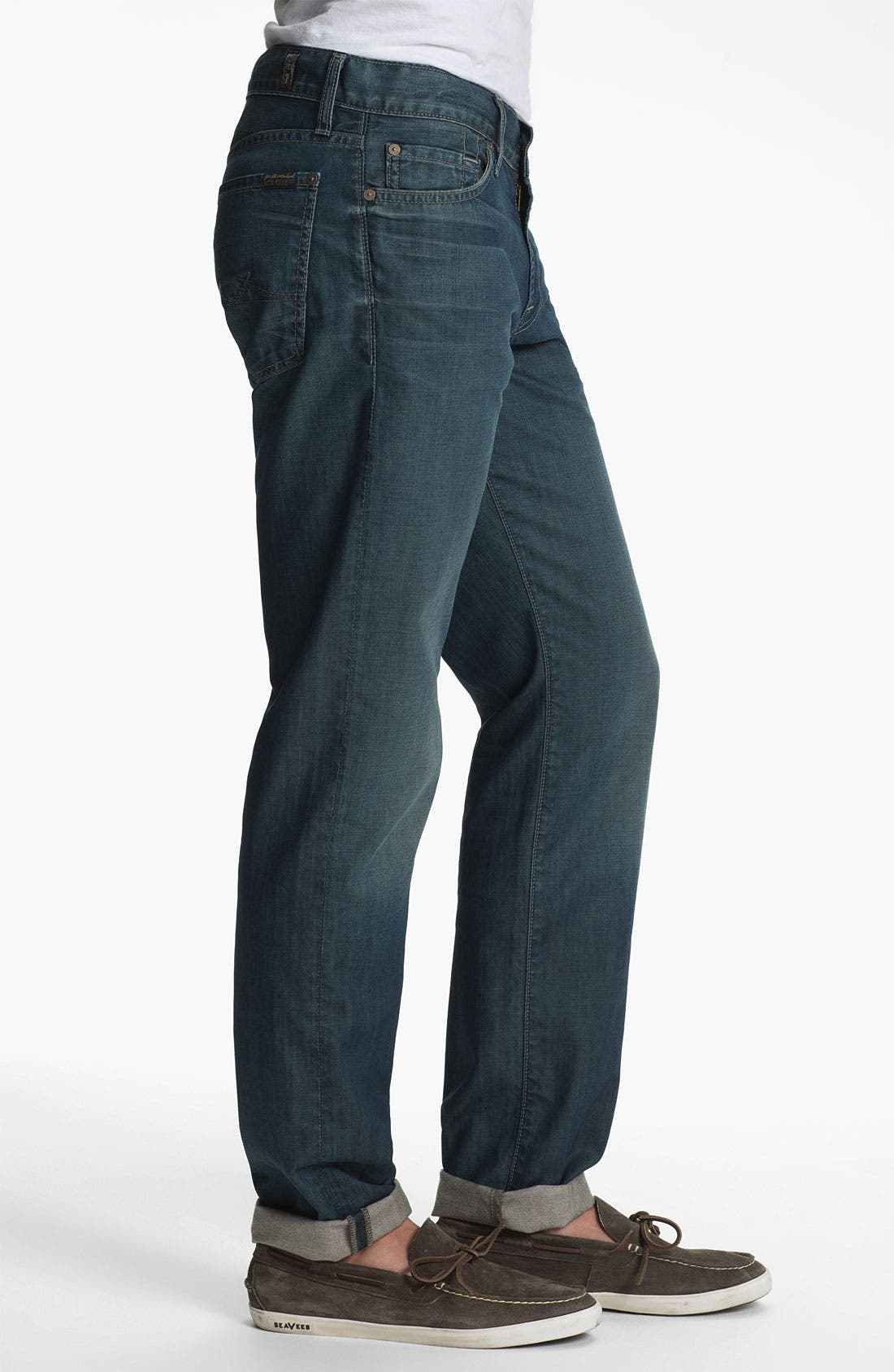 Alternate Image 3  - 7 For All Mankind® 'Slimmy' Slim Straight Leg Jeans (Arroyo Bay)