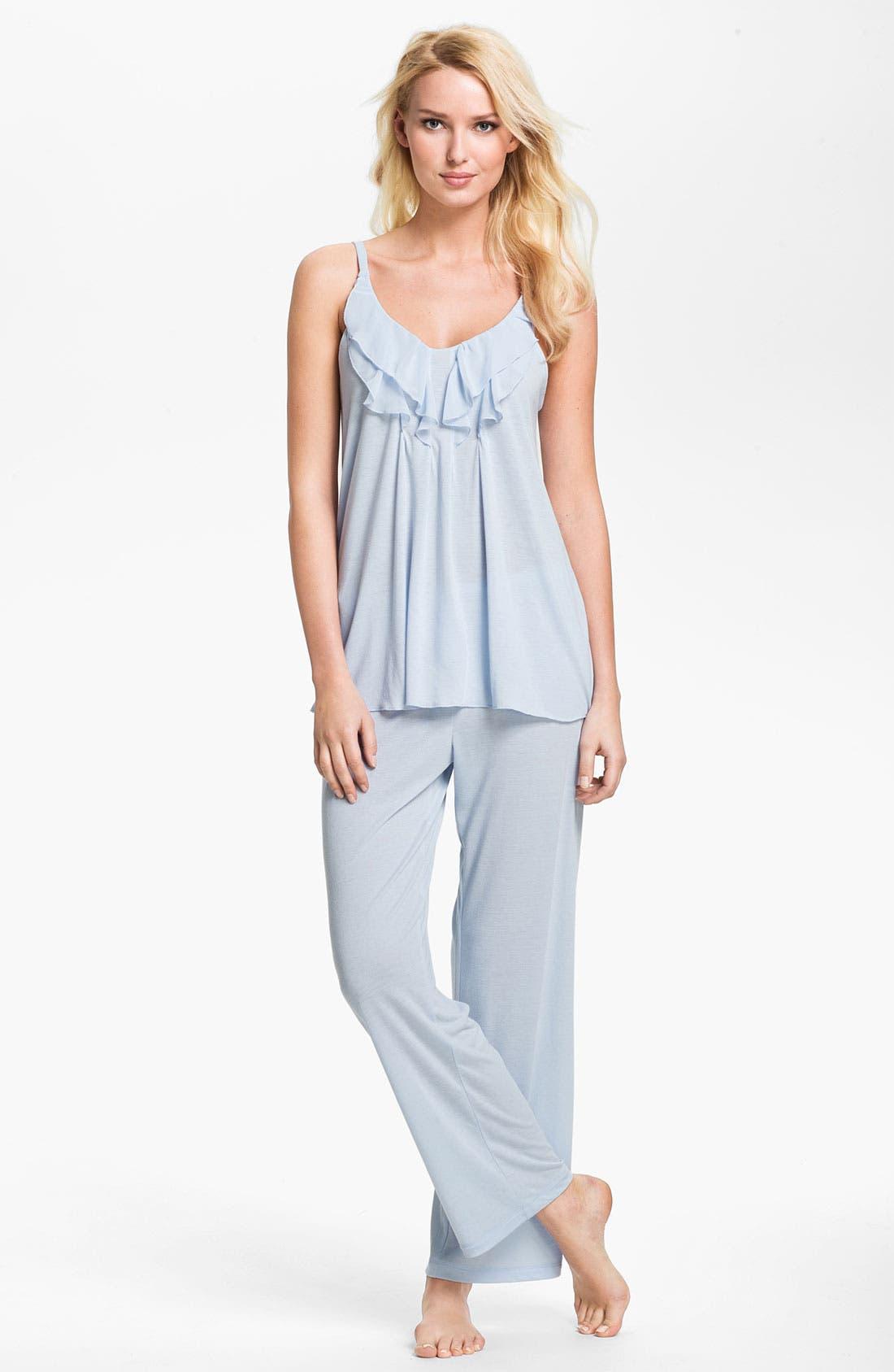 Alternate Image 1 Selected - Oscar de la Renta Sleepwear 'Animal Blossom' Pajamas
