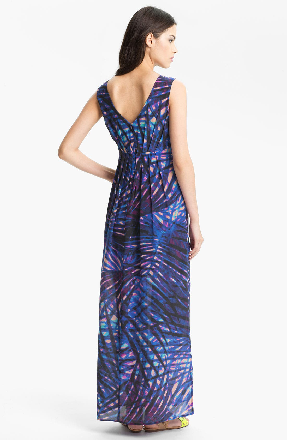 Alternate Image 2  - Presley Skye Print Silk Maxi Dress