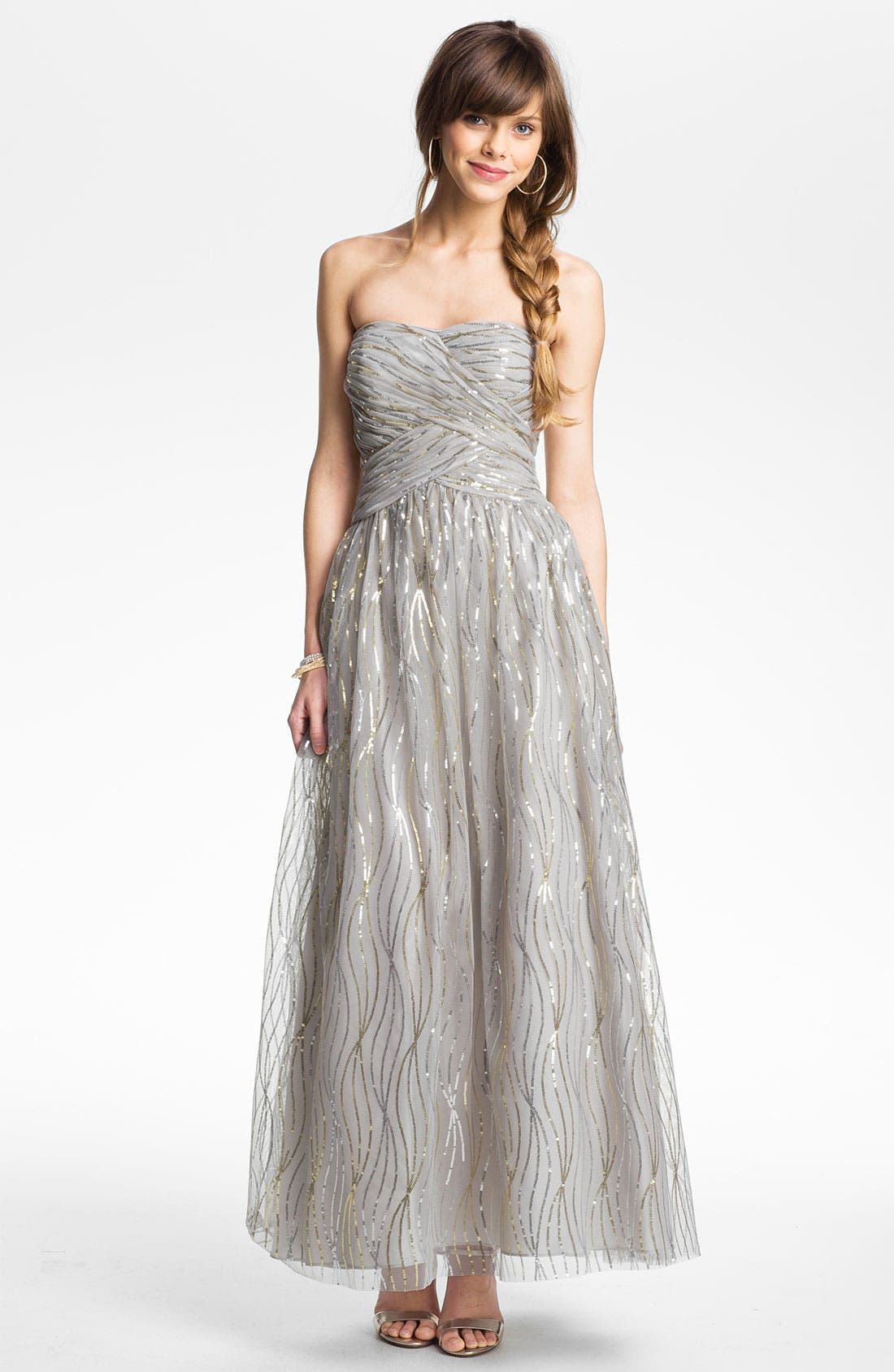 Alternate Image 1 Selected - Hailey by Adrianna Papell Embellished Tulle Gown