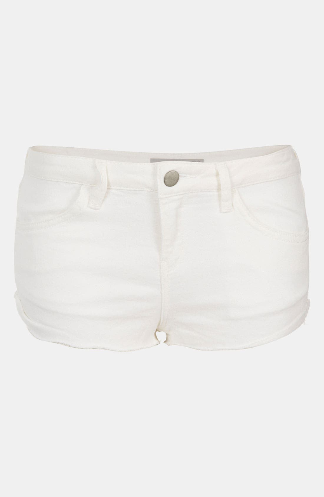 Main Image - Topshop Moto 'Mitzy' Cutoff Denim Shorts