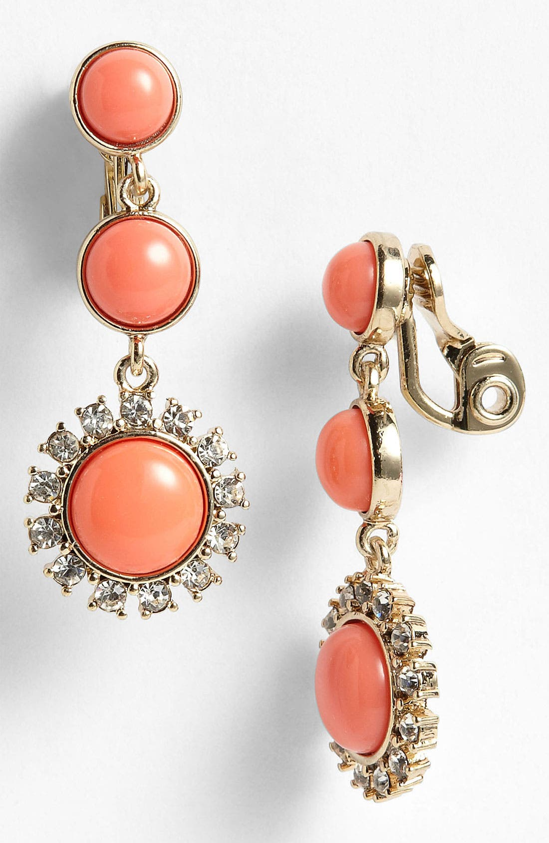Main Image - Anne Klein Clip Drop Earrings