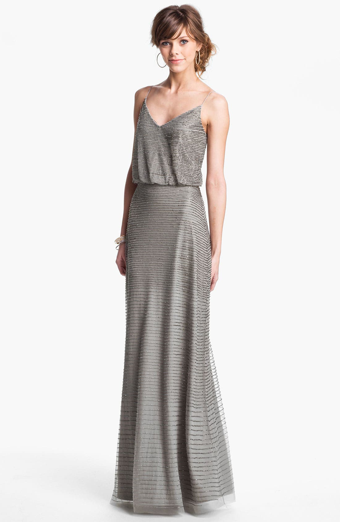 Alternate Image 1 Selected - Adrianna Papell Embellished Blouson Mesh Gown