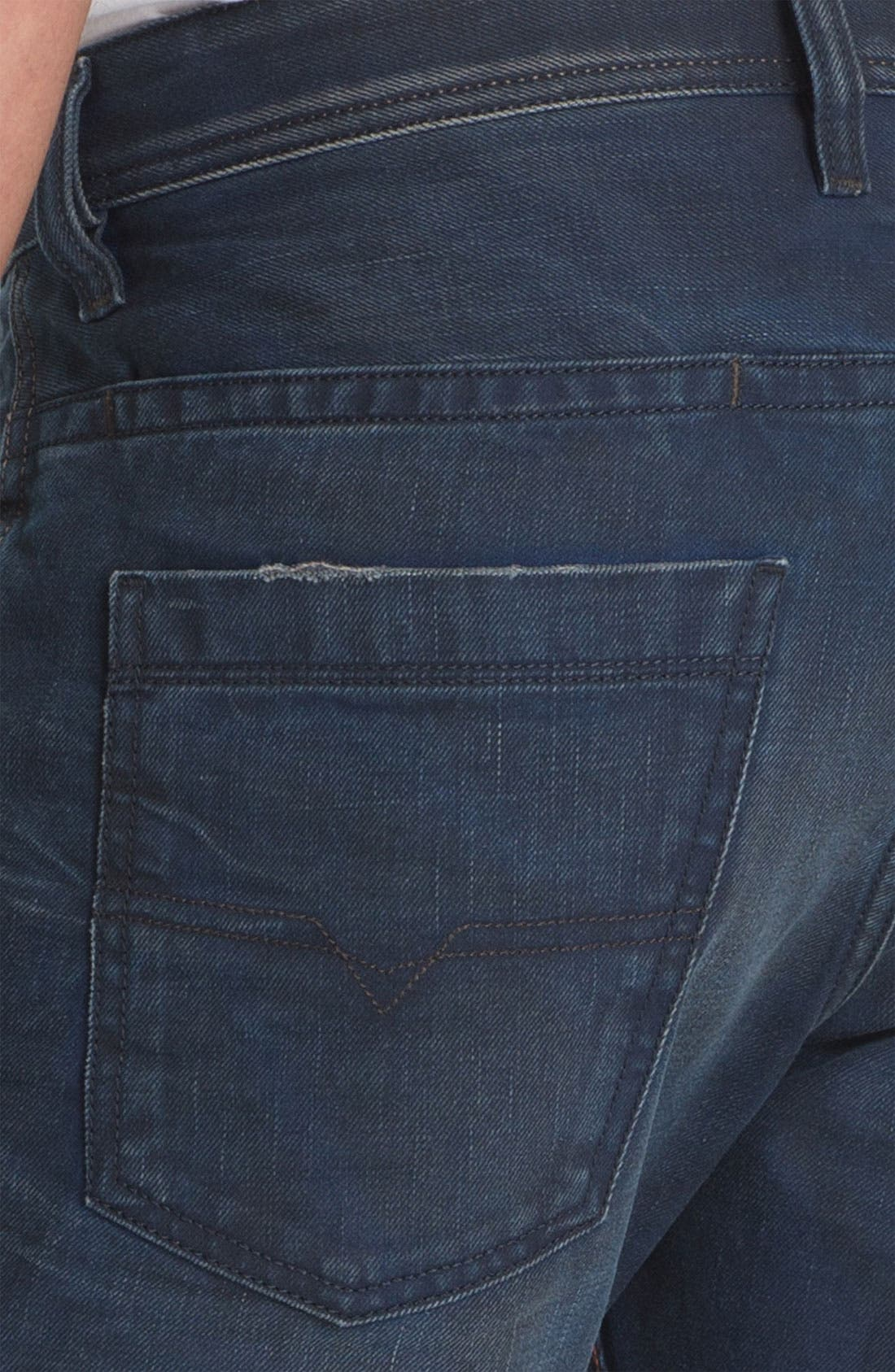 Alternate Image 4  - DIESEL® 'Braddom' Slim Tapered Leg Jeans (0811K)