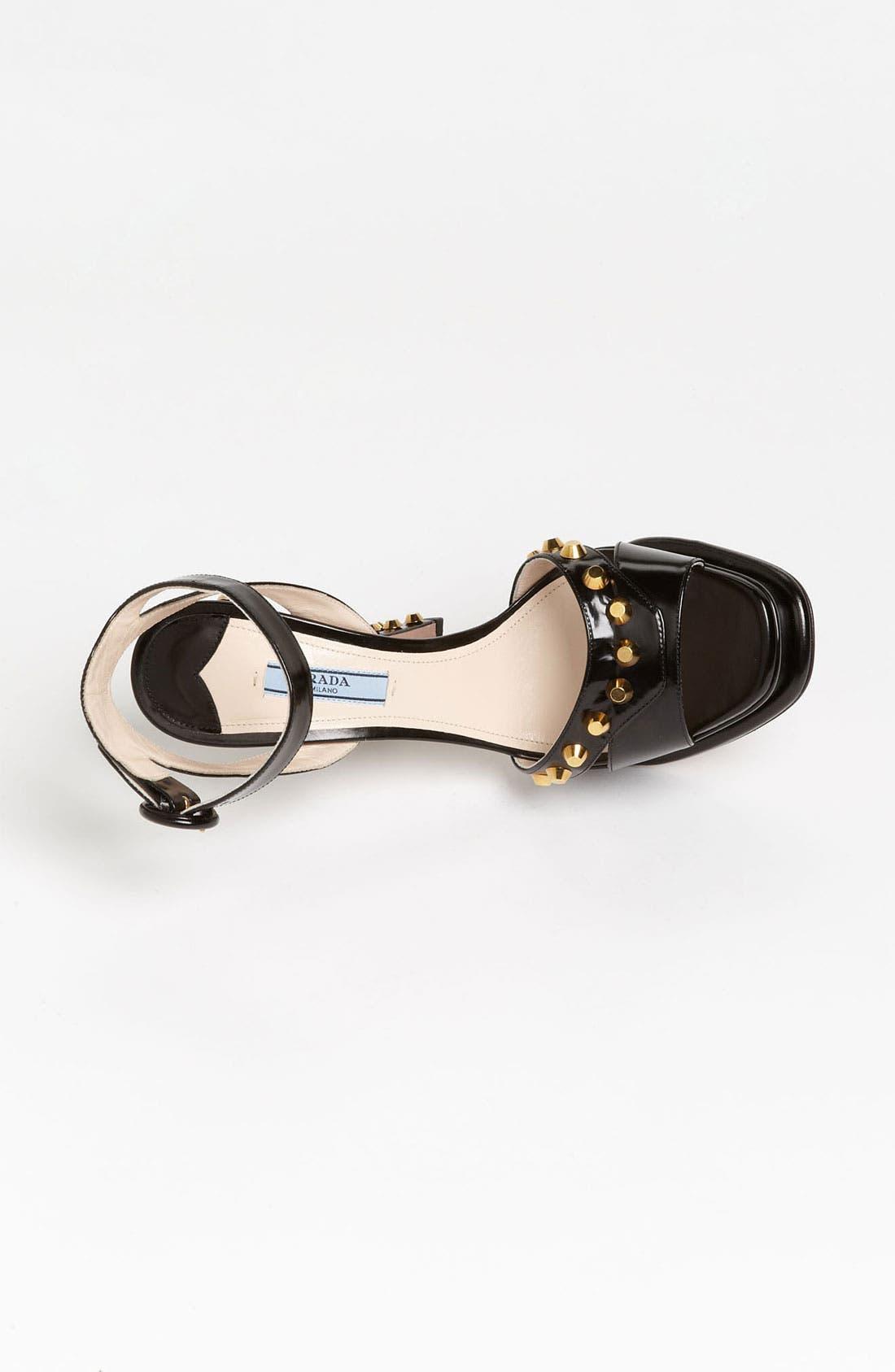 Alternate Image 3  - Prada Platform Studded Heel Sandal