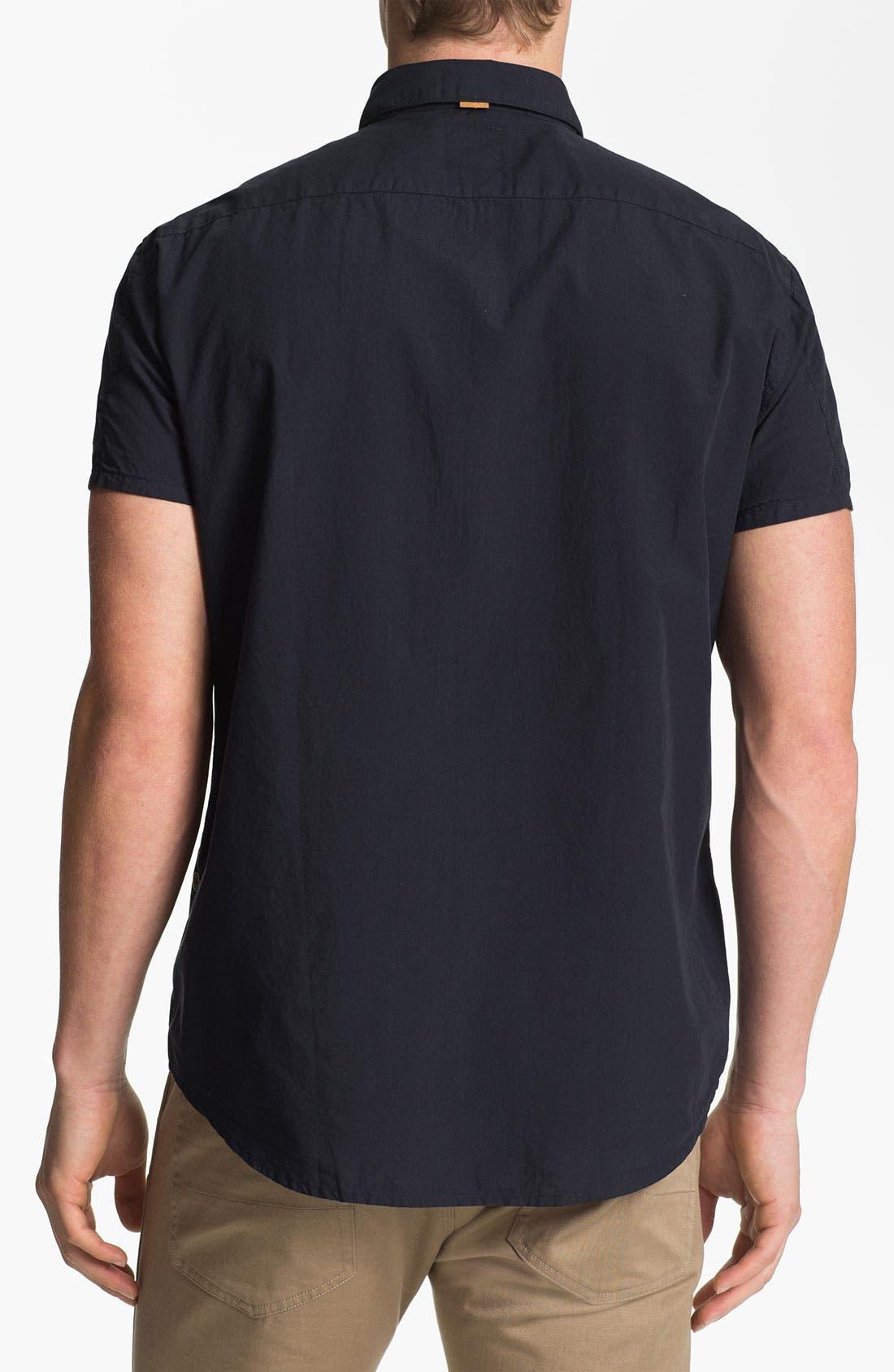Alternate Image 2  - BOSS Orange Short Sleeve Woven Shirt