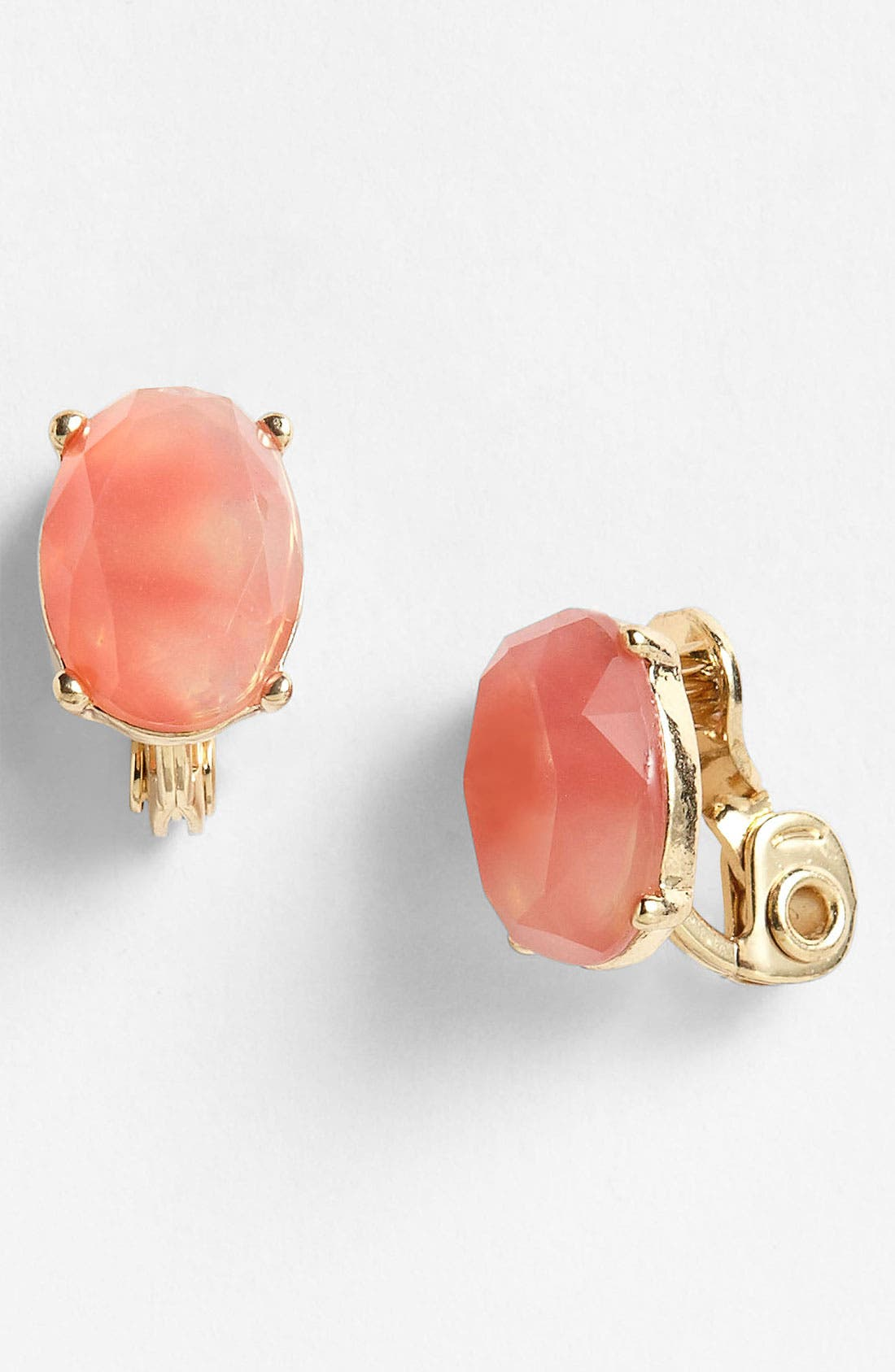 Alternate Image 1 Selected - Anne Klein Button Clip Earrings
