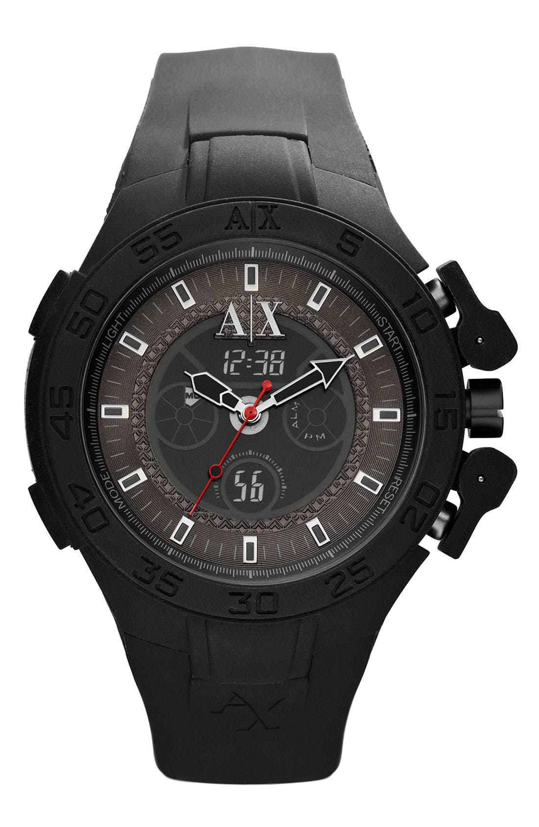 Main Image - AX Armani Exchange Dual Movement Watch, 47mm
