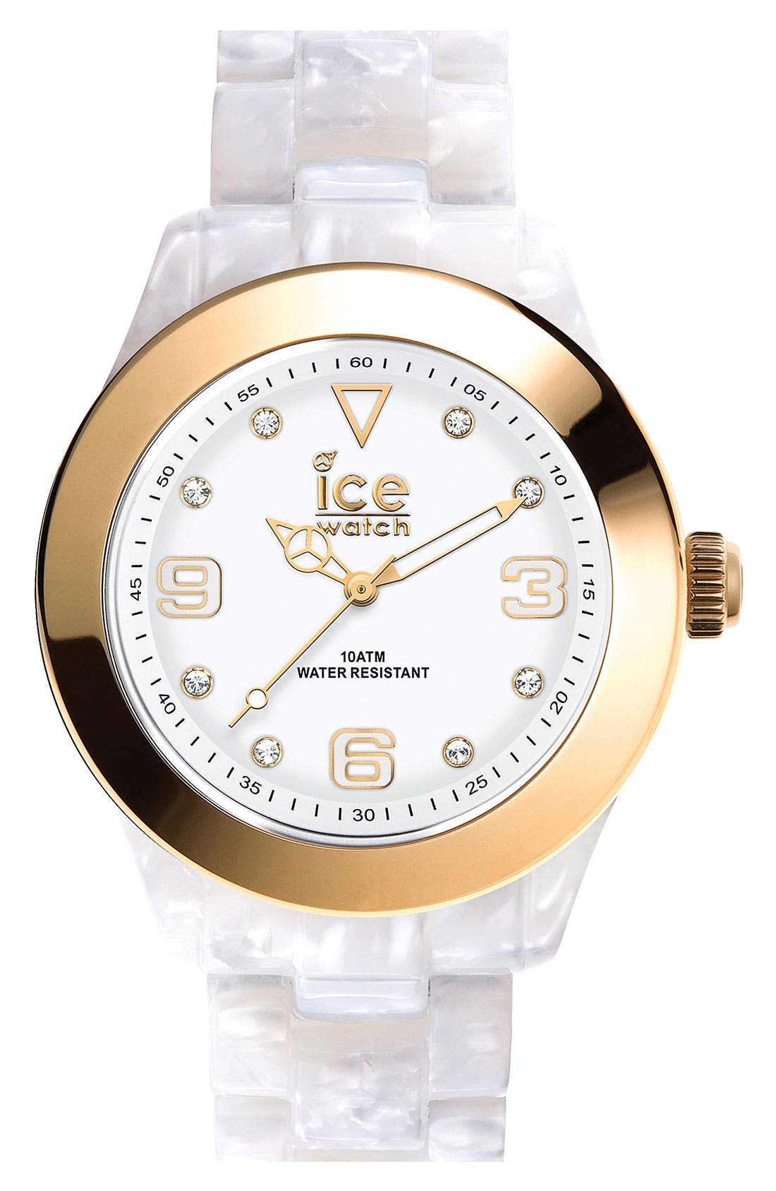 Main Image - ICE Watch 'Elegant' Gold Bezel Watch, 43mm