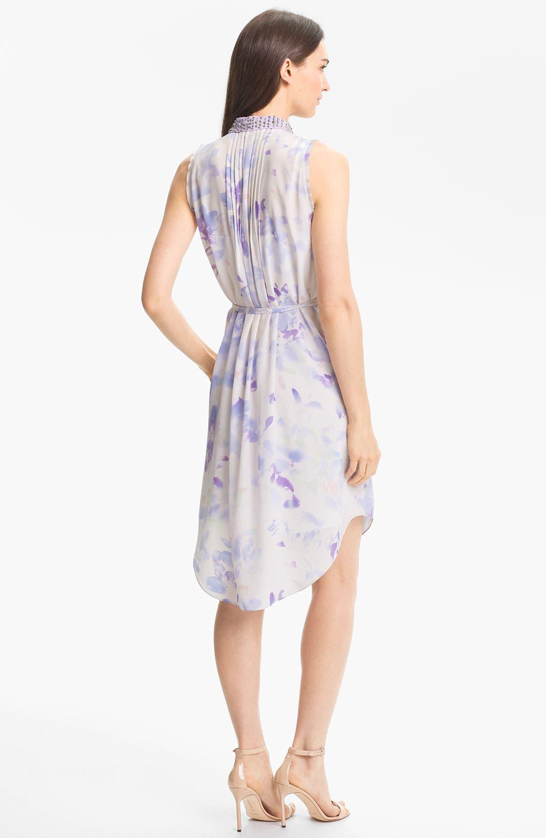 Alternate Image 2  - Rebecca Taylor 'Hawaii' Silk Shirtdress