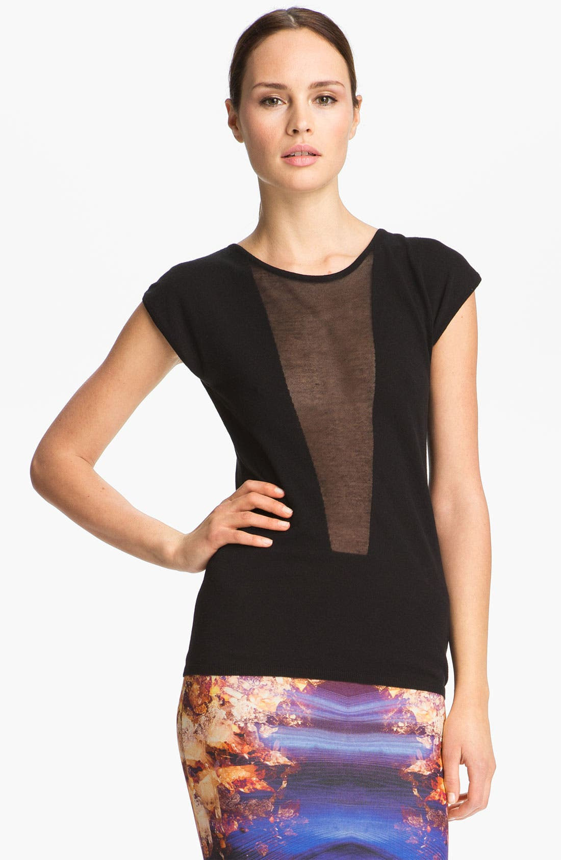 Alternate Image 1 Selected - McQ by Alexander McQueen Sheer Inset Top