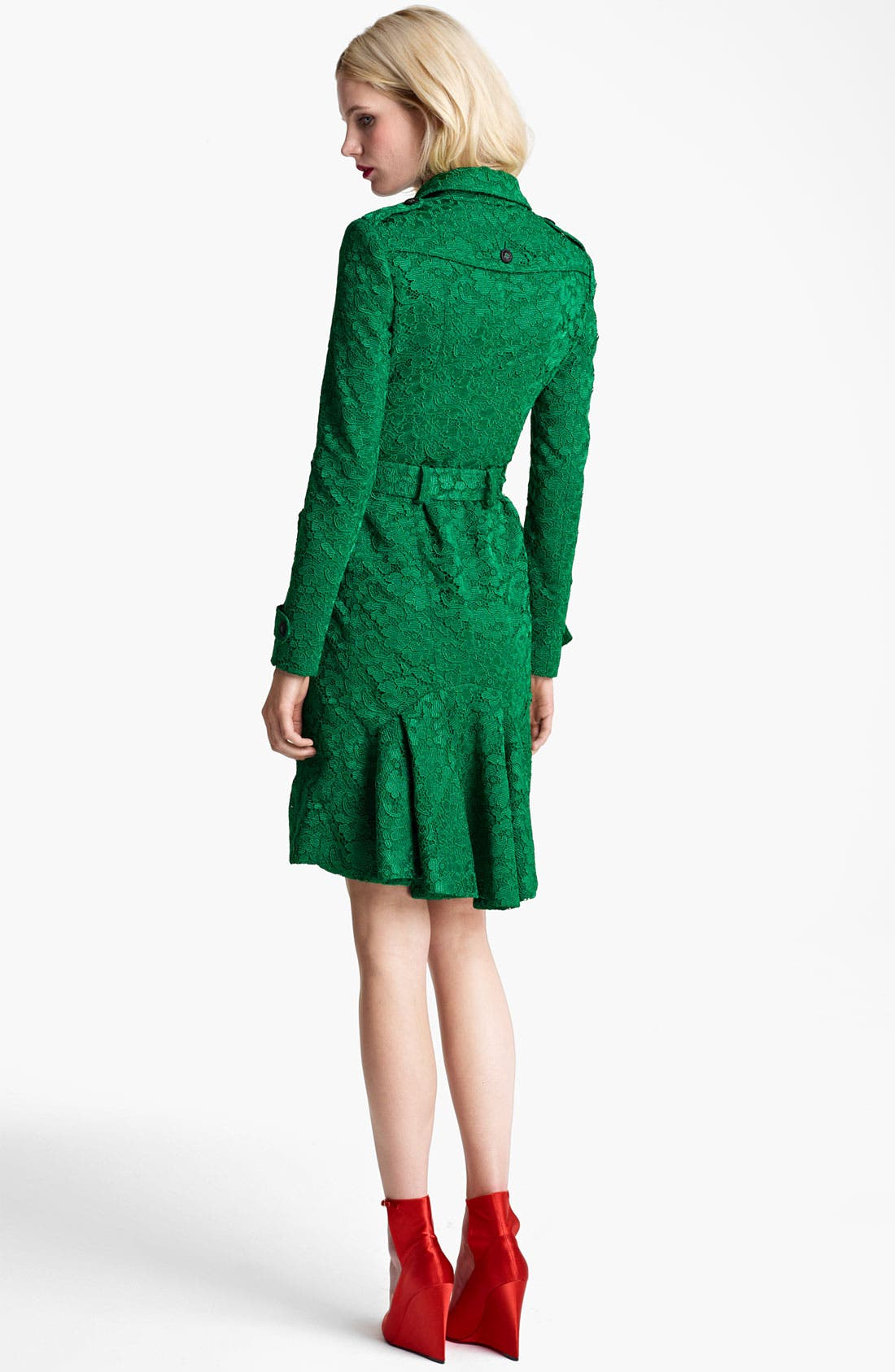 Alternate Image 2  - Burberry Prorsum Belted Lace Trench Coat