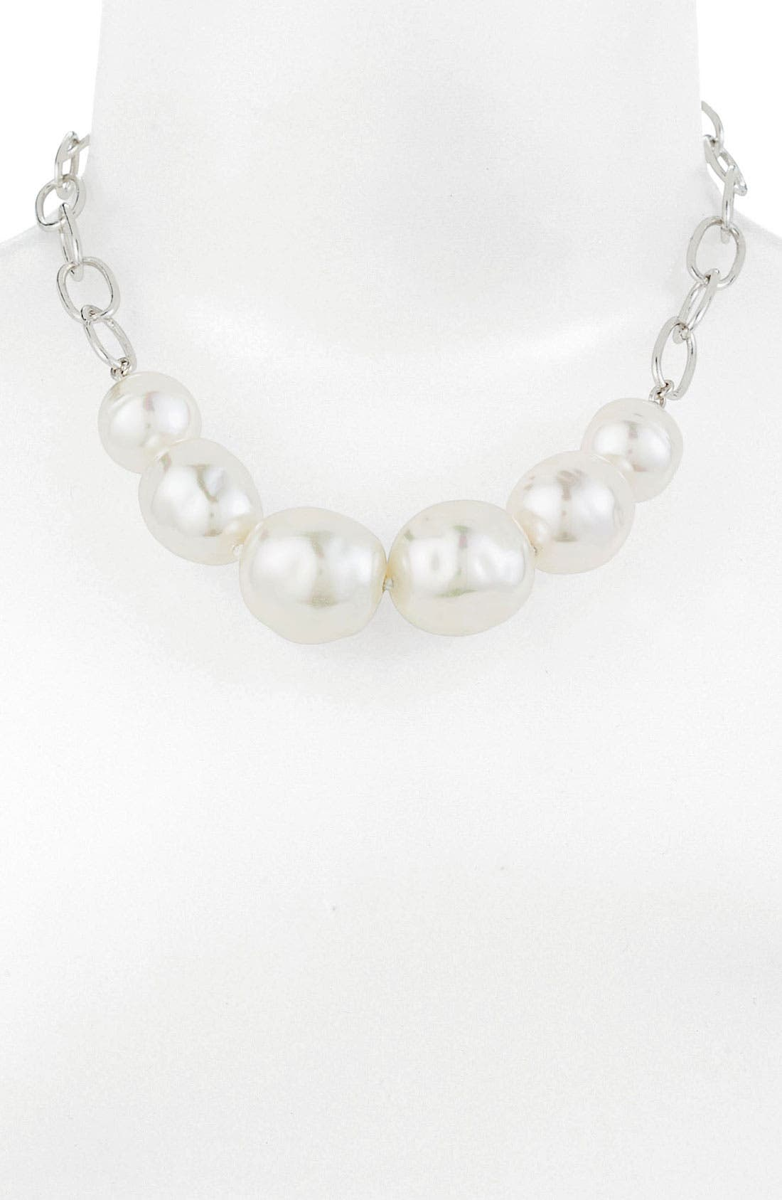 Alternate Image 1 Selected - Majorica Baroque Pearl Frontal Necklace