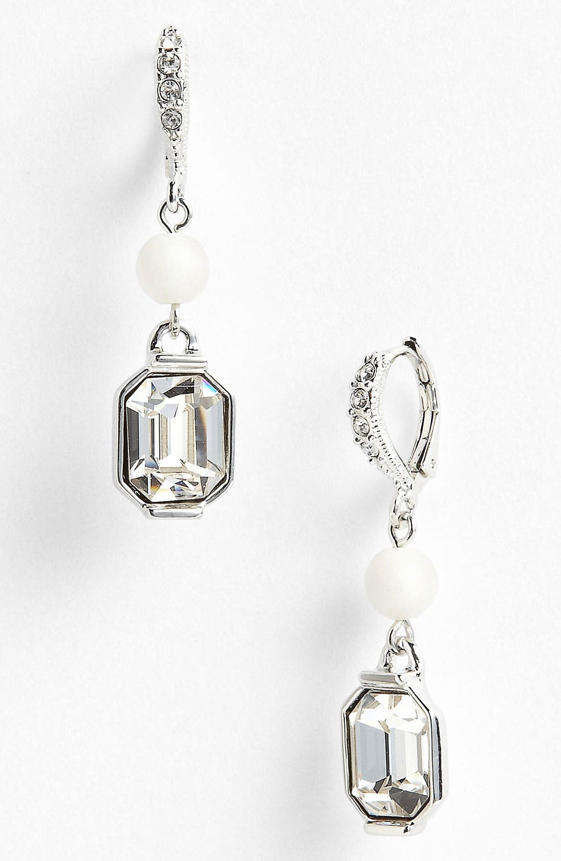 Alternate Image 1 Selected - Givenchy 'Lark' Crystal & Bead Double Drop Earrings