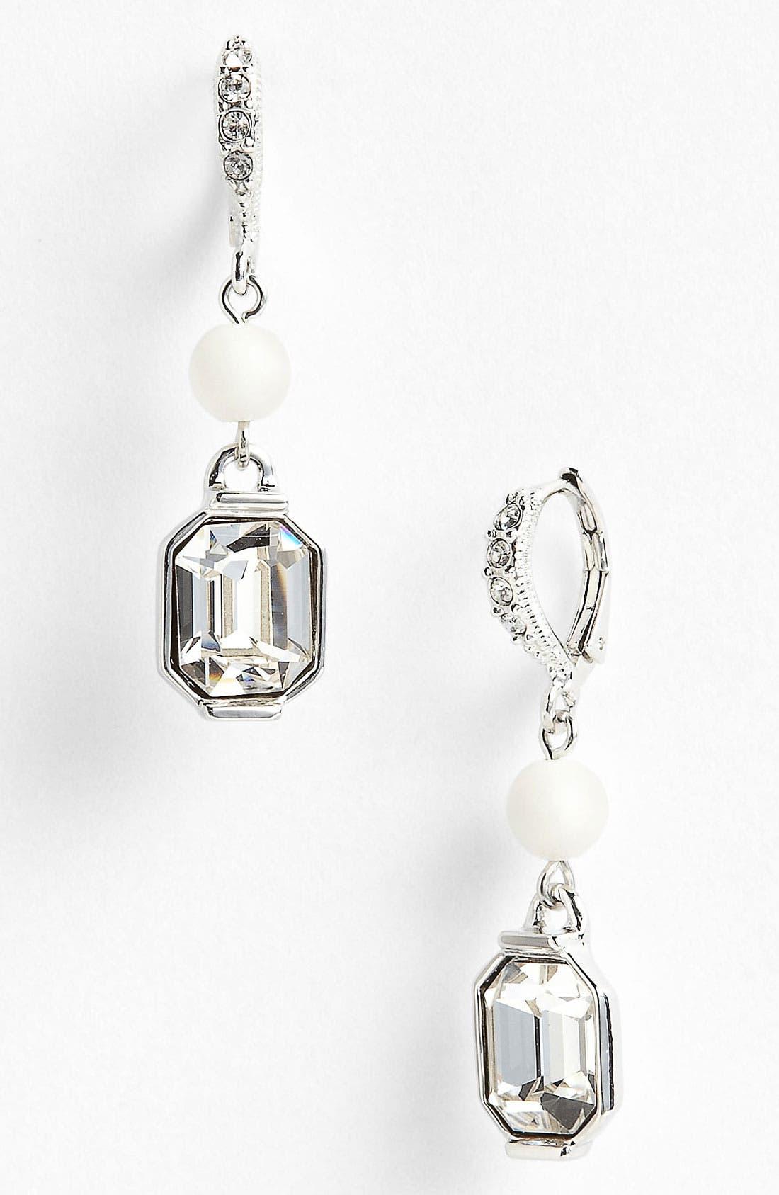 Main Image - Givenchy 'Lark' Crystal & Bead Double Drop Earrings