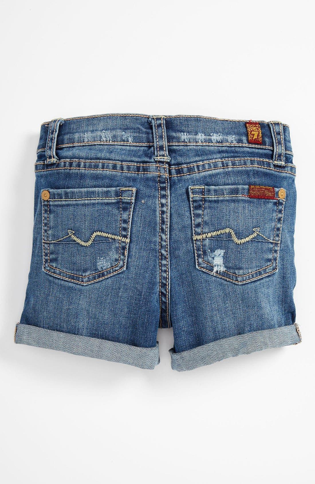 Alternate Image 1 Selected - 7 For All Mankind® Denim Shorts (Toddler)