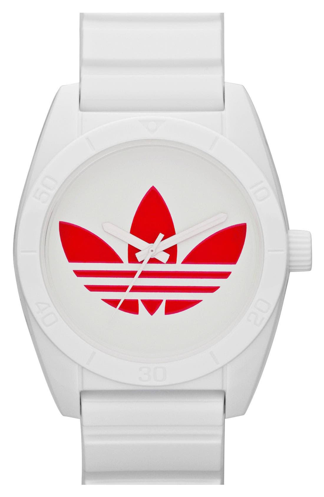 Main Image - adidas Originals 'Santiago' Polyurethane Strap Watch