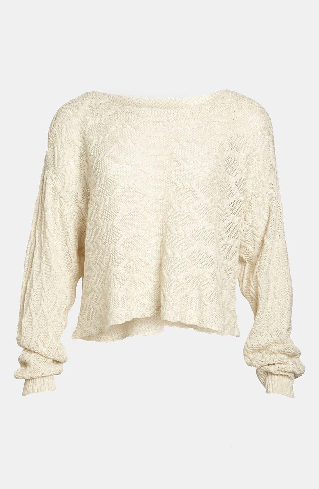 Alternate Image 1 Selected - Tildon Off Shoulder Cabled Pullover Sweater