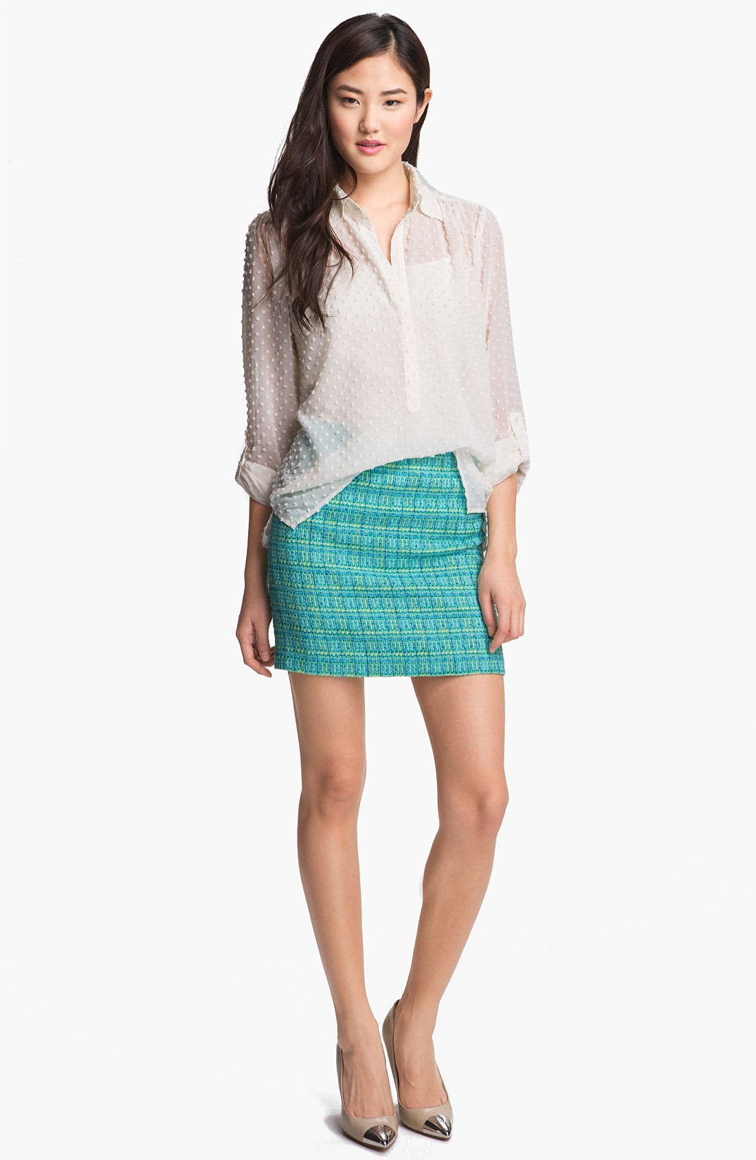 Alternate Image 4  - Vince Camuto Multi Tweed Pencil Skirt