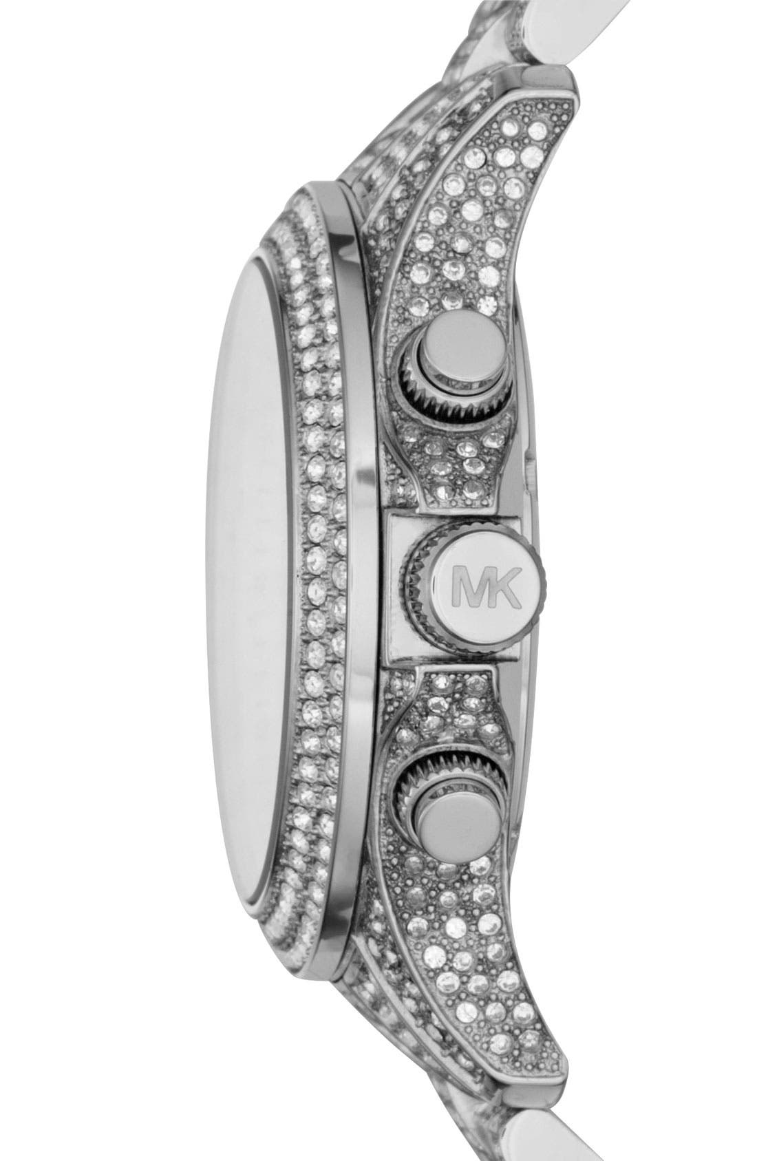 Alternate Image 2  - Michael Kors 'Layton' Crystal Encrusted Watch