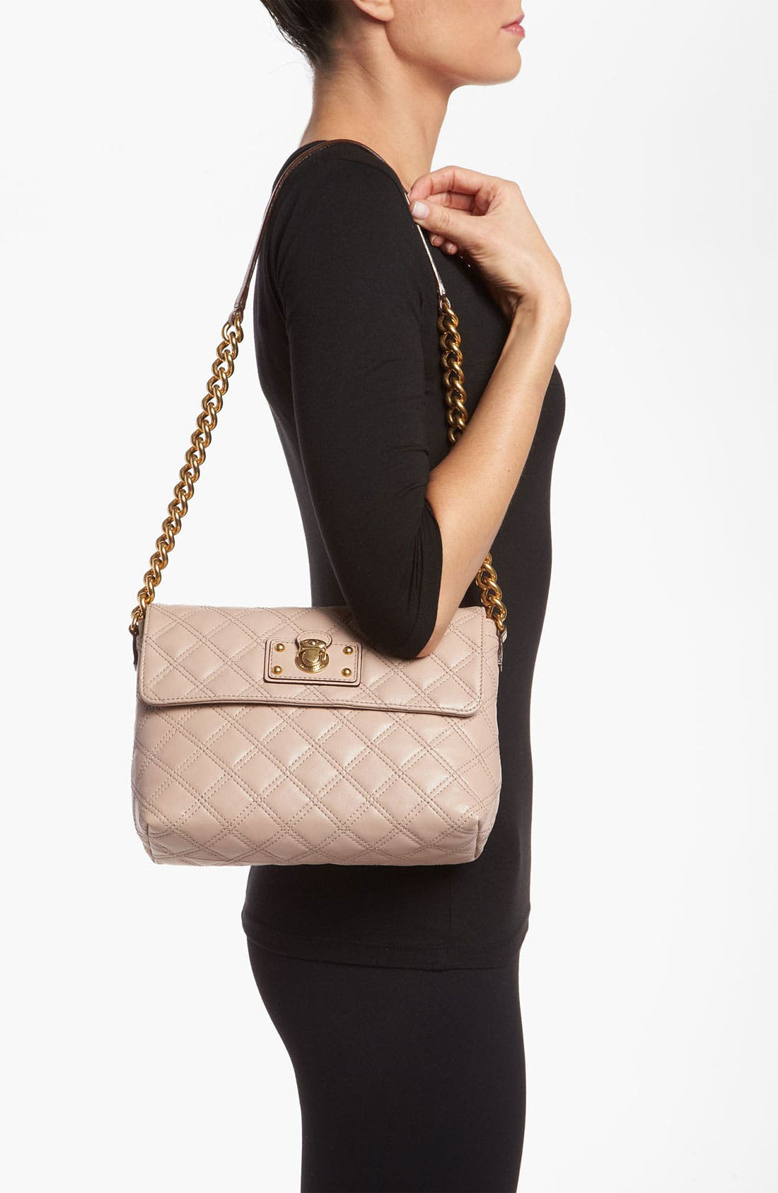 Alternate Image 2  - MARC JACOBS 'Large Quilting Single' Leather Shoulder Bag