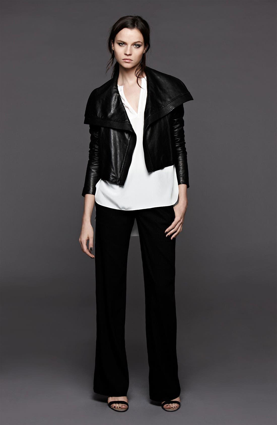 Alternate Image 5  - Vince Asymmetrical Leather Jacket