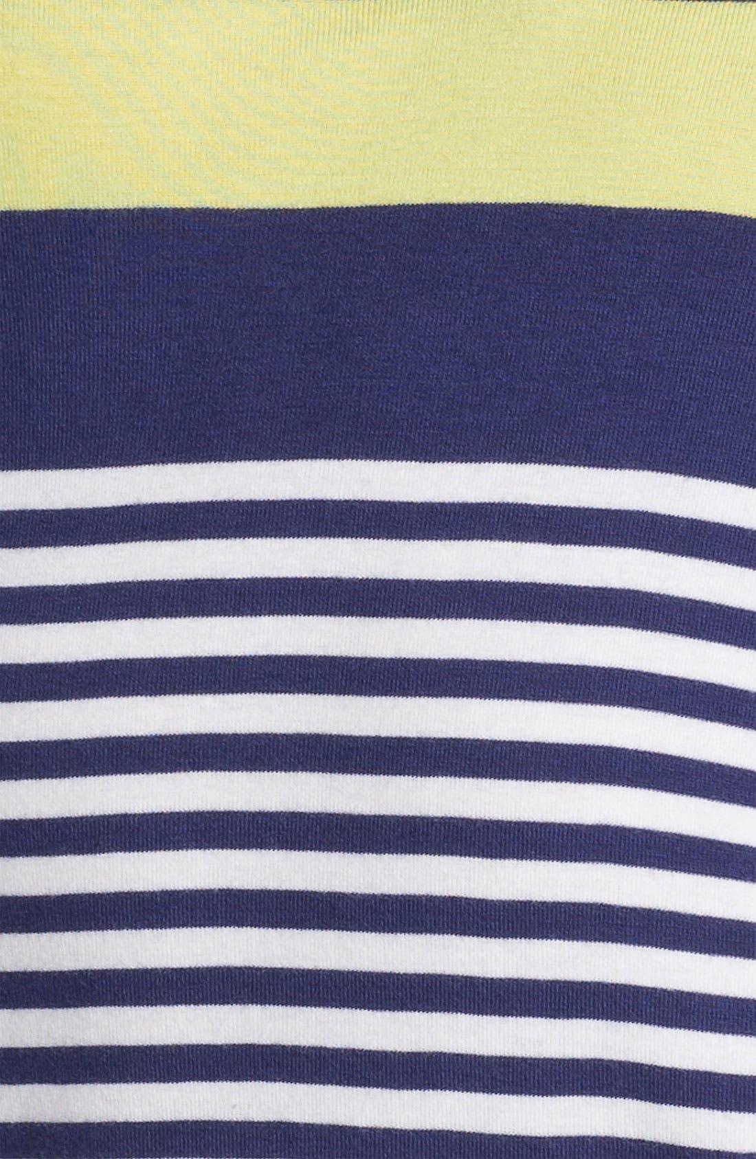 Alternate Image 3  - Amber Sun Three Quarter Sleeve Stripe Tee