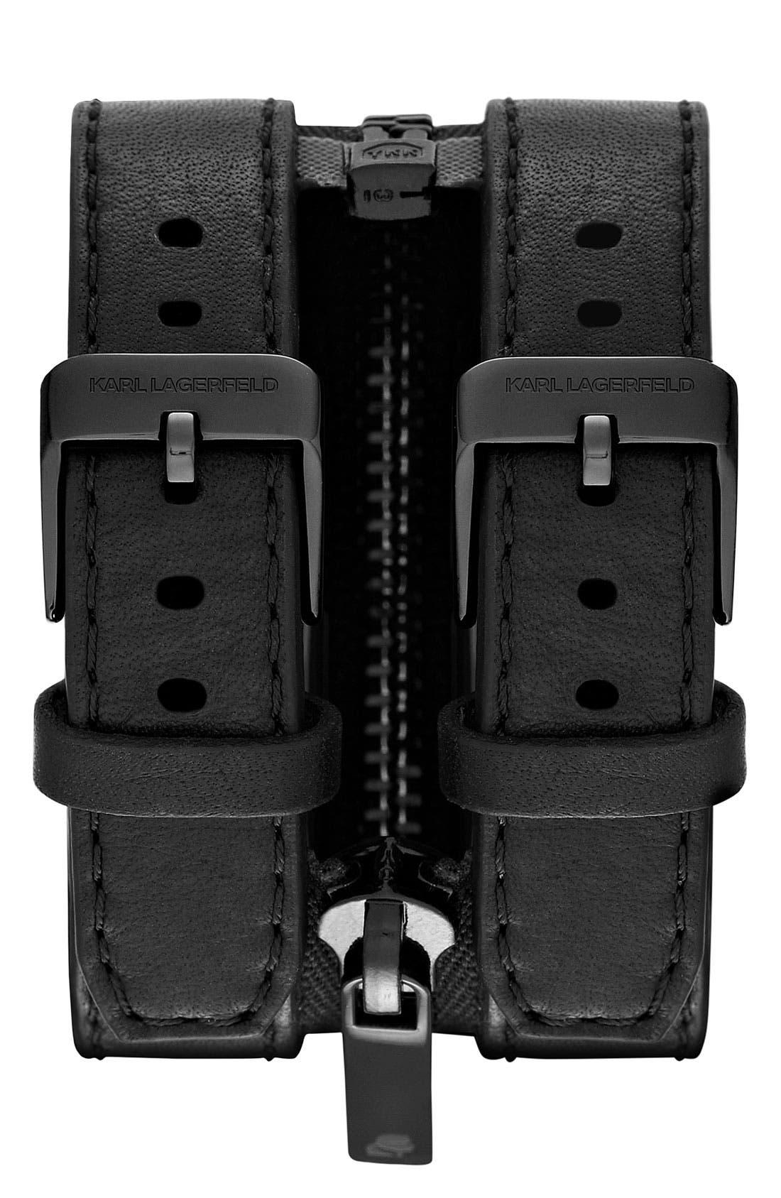 Alternate Image 2  - KARL LAGERFELD Double Strap Cuff Watch