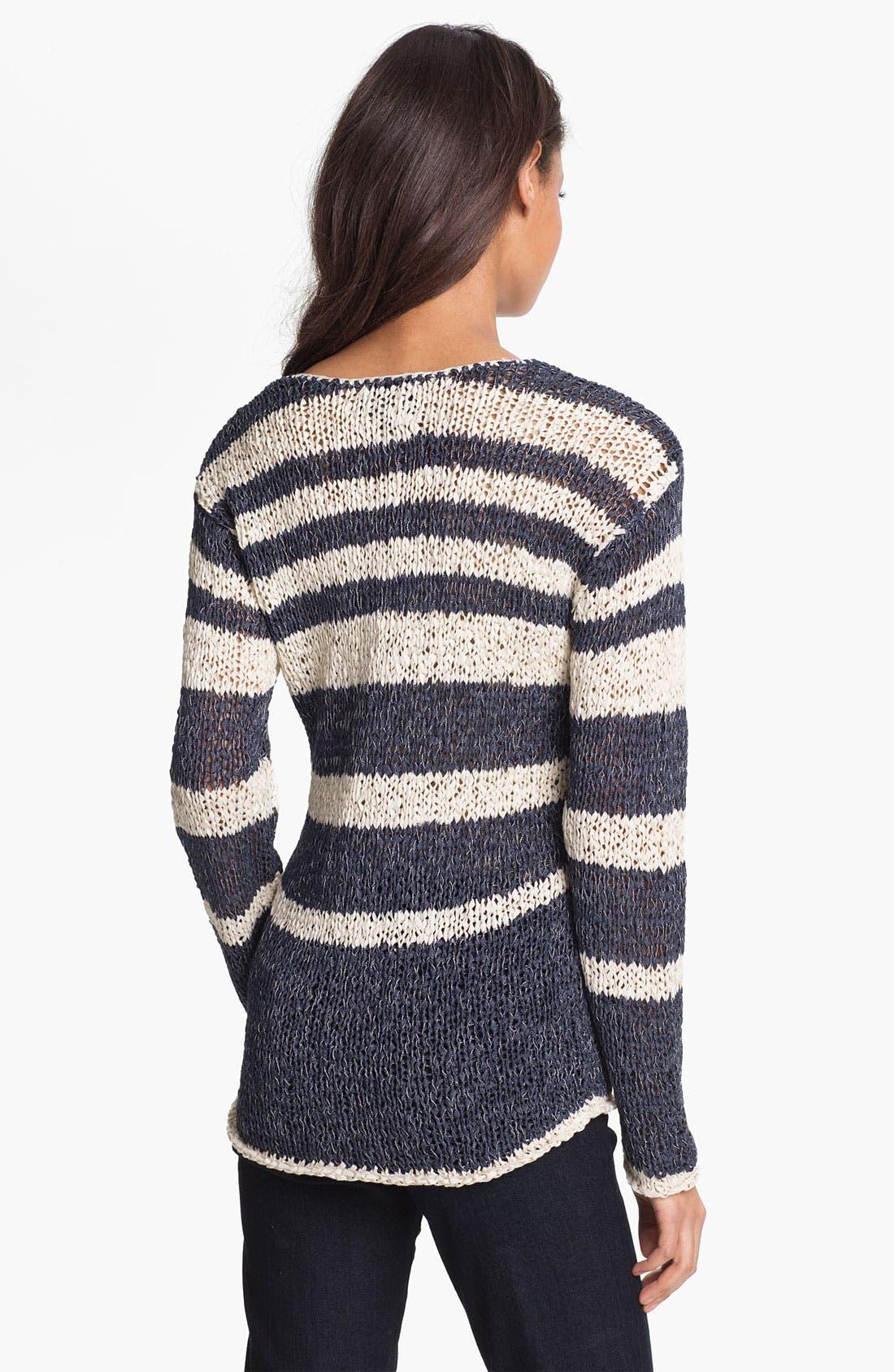Alternate Image 2  - Shirt 469 Variegated Stripe Sweater (Petite)