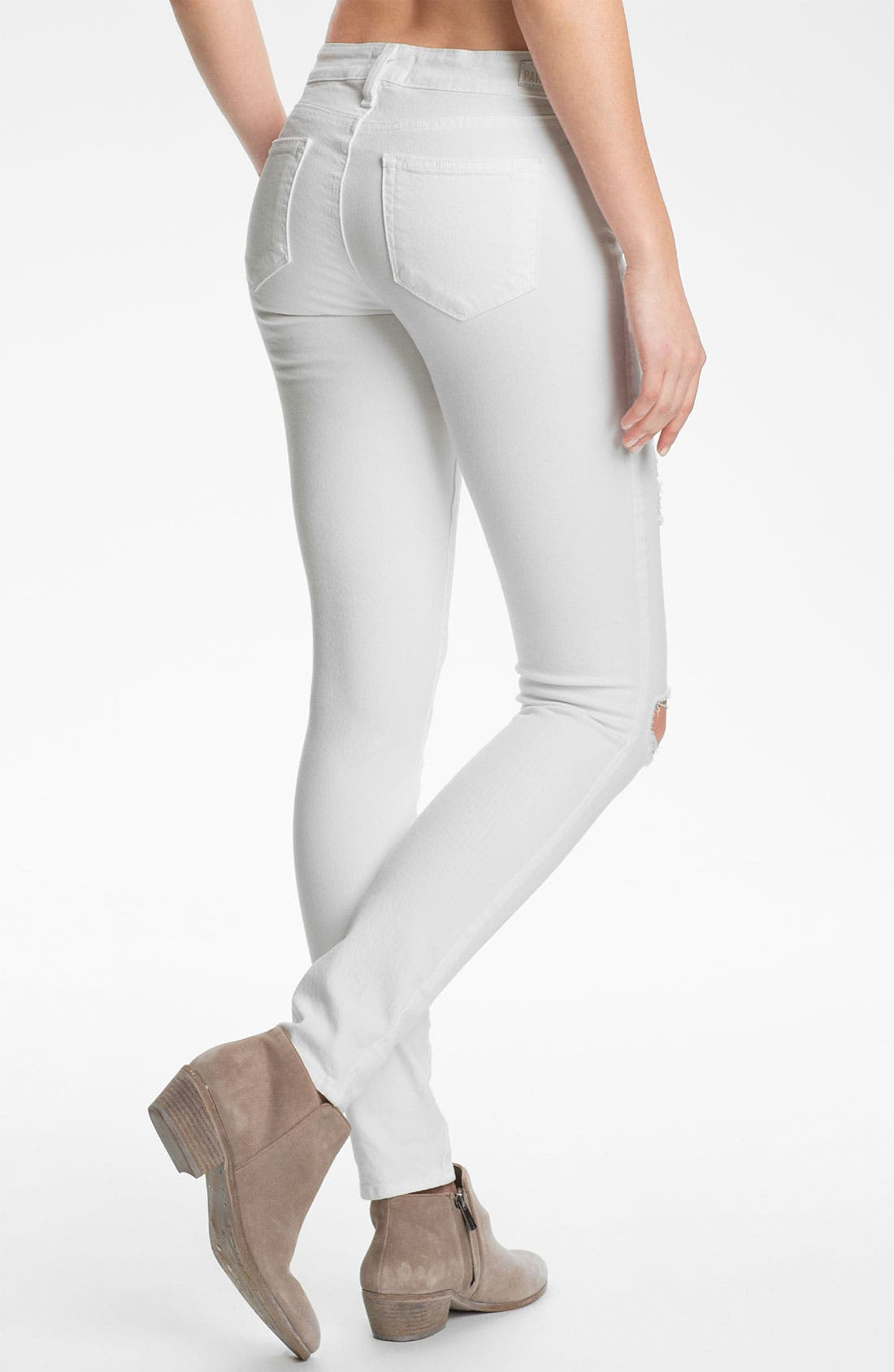 Alternate Image 2  - PAIGE 'Verdugo' Destroyed Ultra Skinny Jeans (Optic White Deconstruction)